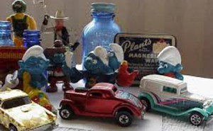 Smurf and toy car collectibles
