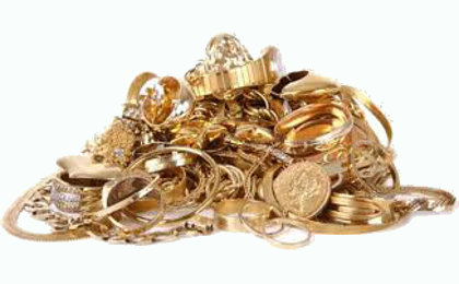 gold in a pile